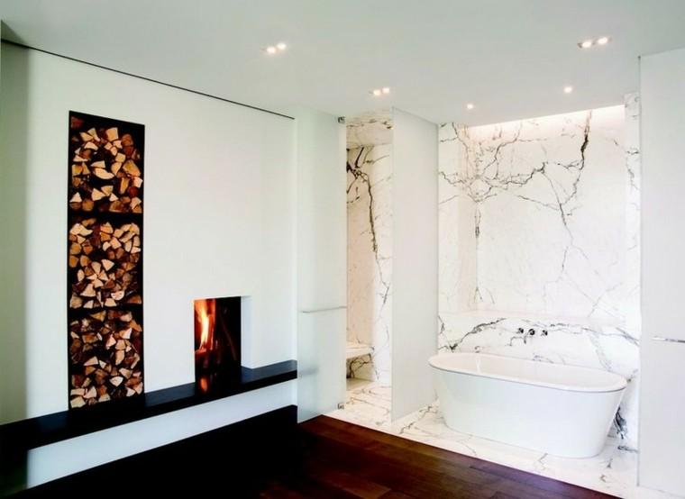 baño marmol acento bañera led