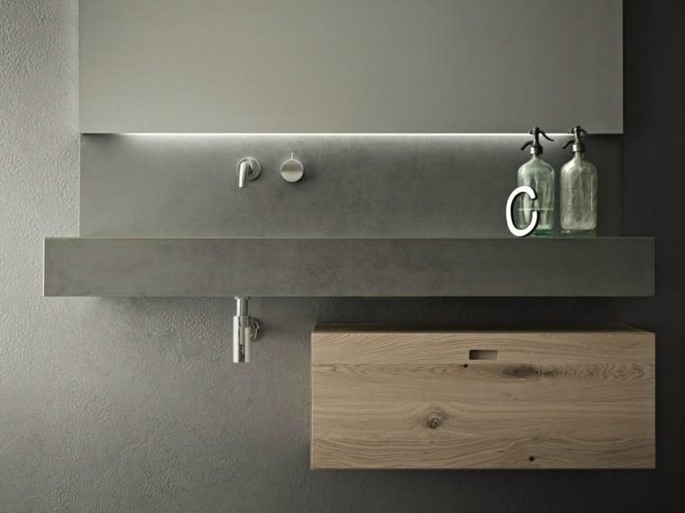 baño estilo minimalista diseño cemento