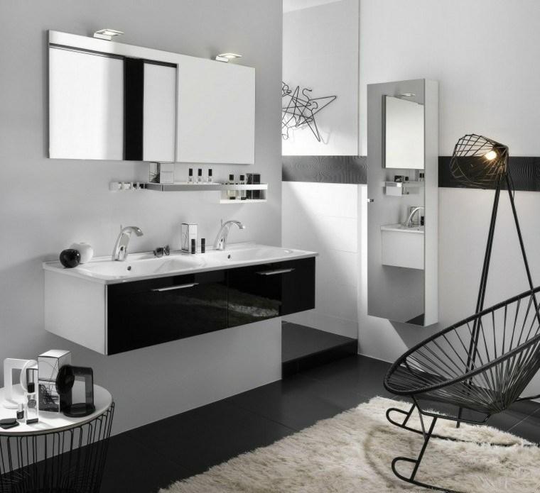 baño diseño moderno blanco gris