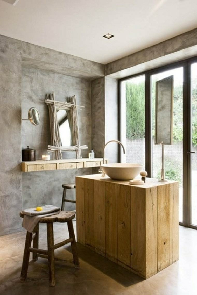 baño estilo moderno rustico