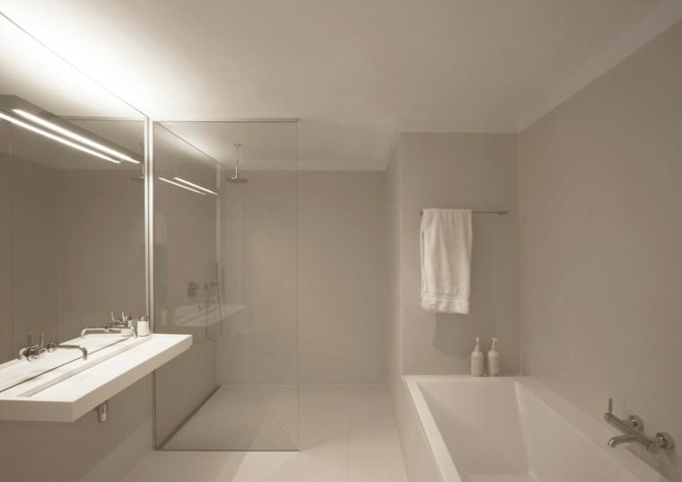 baño moderno diseño todo blanco