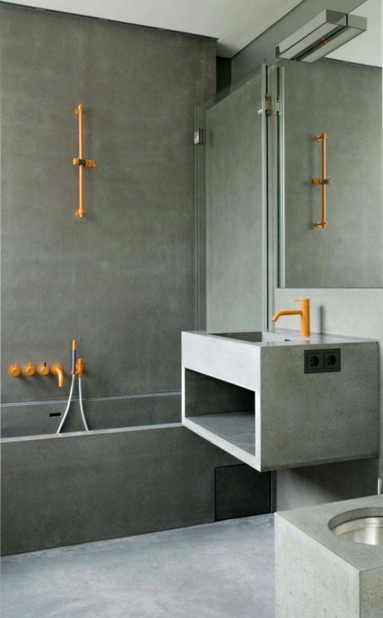 baño moderno diseño todo cemento