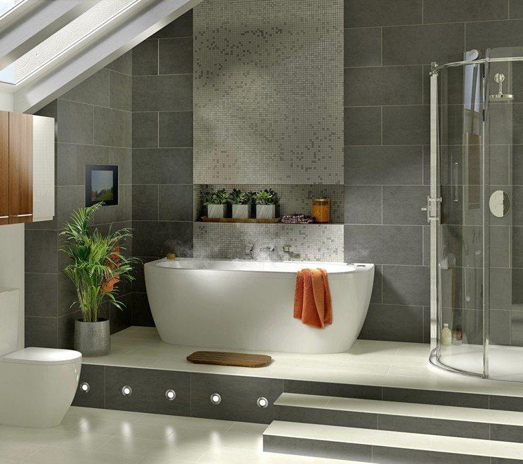 baño moderno bañera cabina ducha