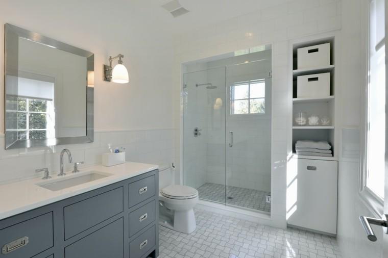 Ba os modernos con ducha cincuenta ideas estupendas for Muebles de bano estilo vintage