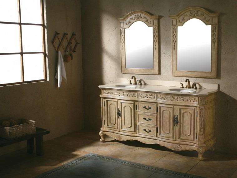 Baños Diseno Clasico:Decorar baños con muebles de baño vintage