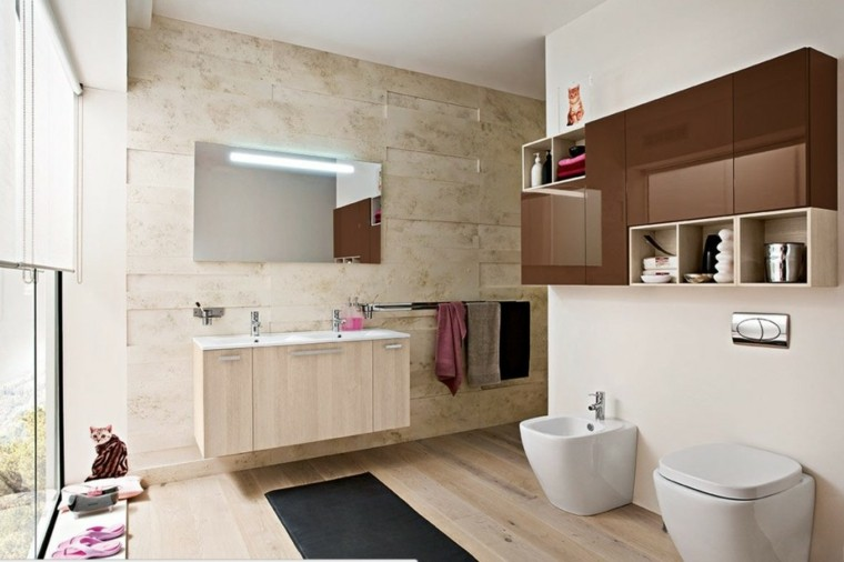 Baños Rusticos De Madera:Cuartos de baño rusticos – 50 ideas con madera y piedra