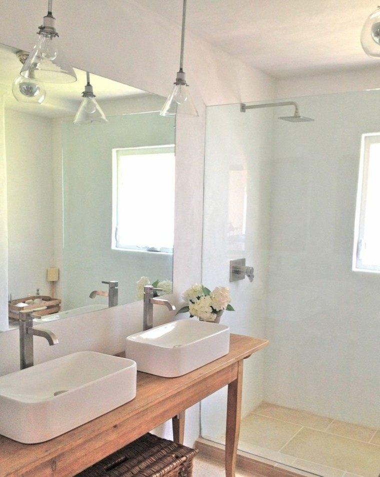 baño estilo rustic color blanco