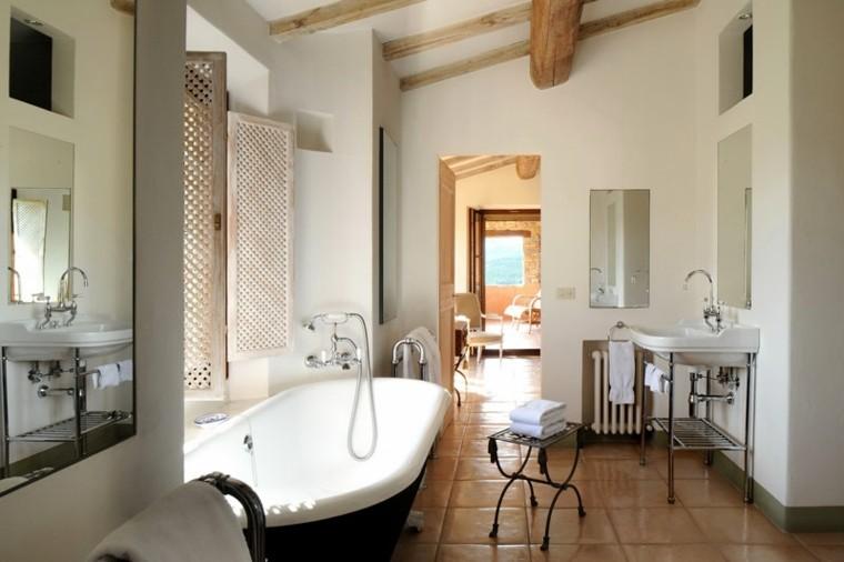 baño diseño rustico estilo lujoso