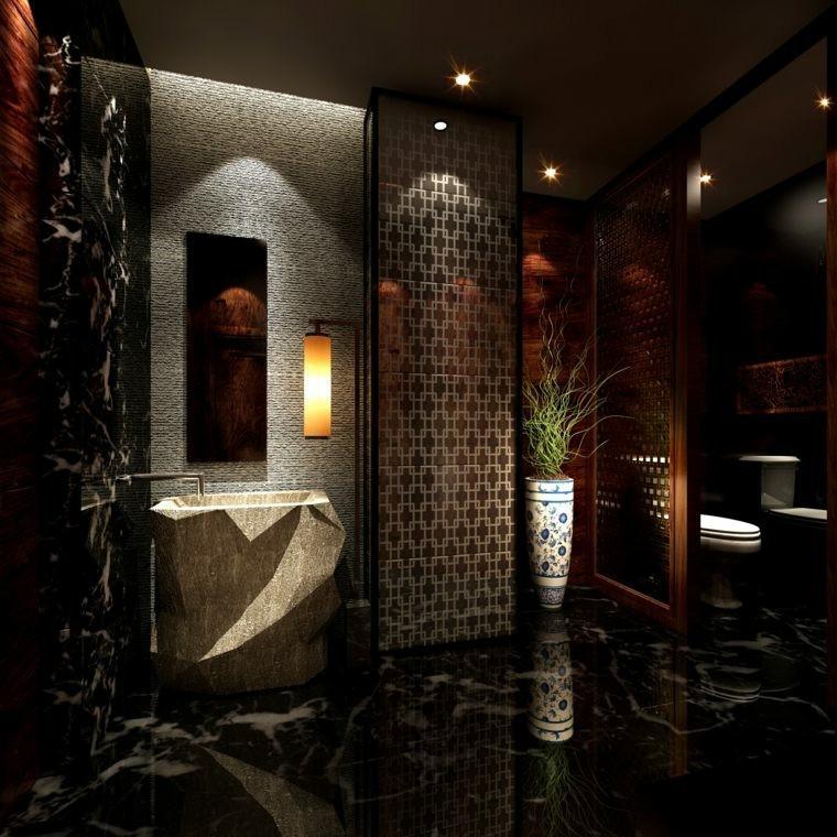 baño revestimiento estilo moderno lujoso