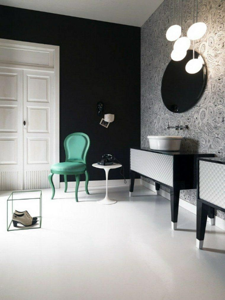baño diseño silla color aguamarina