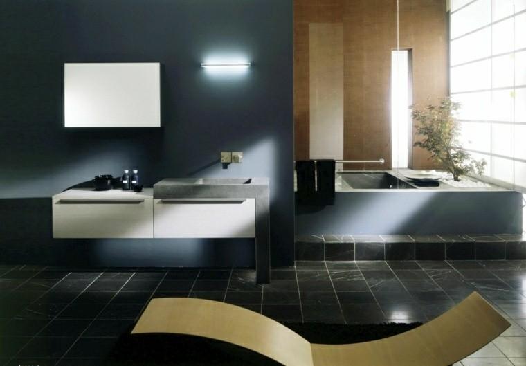 diseño baño moderno tumbona amarilla