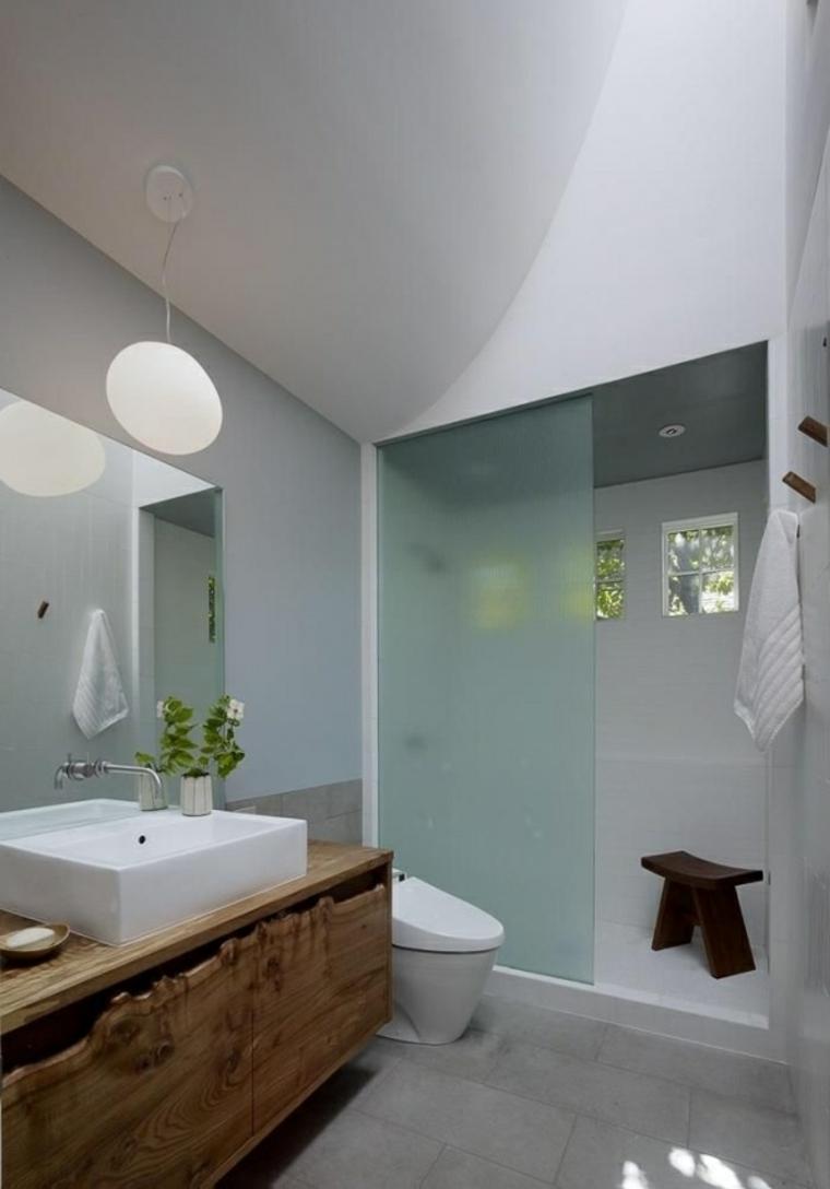 baños rusticos diseño modrno banca natural