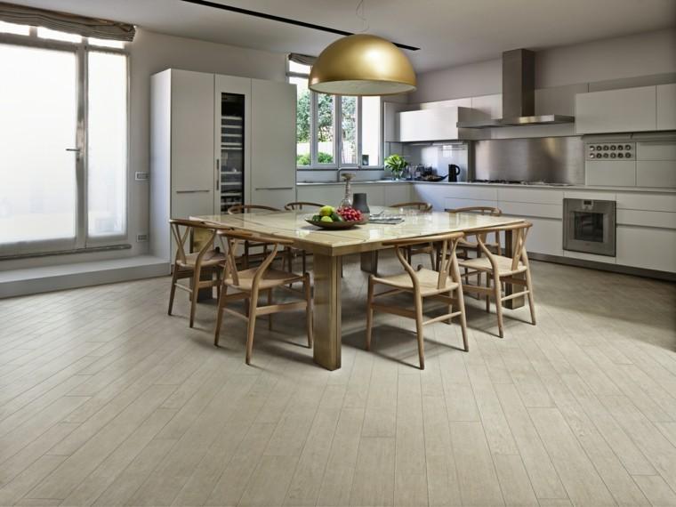 Baldosas azulejos y losas que imitan madera muy originales for Baldosas cocina