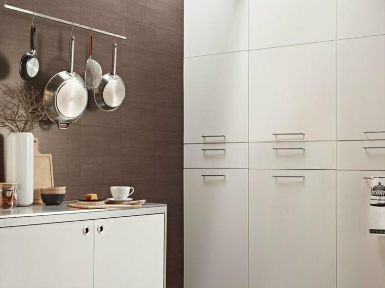 baldosas azulejos imitan madera pared cocina moderna ideas