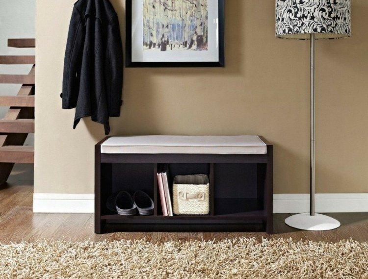 Entradas y recibidores con encanto 50 ideas para decorar - Mueble banco asiento ...