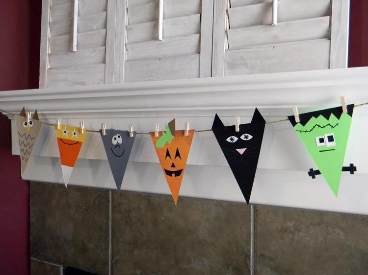 banderillas decorativas halloween caras