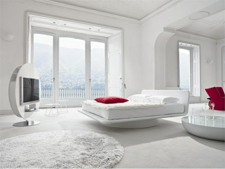 blanco contraste rojo estilo alfombra