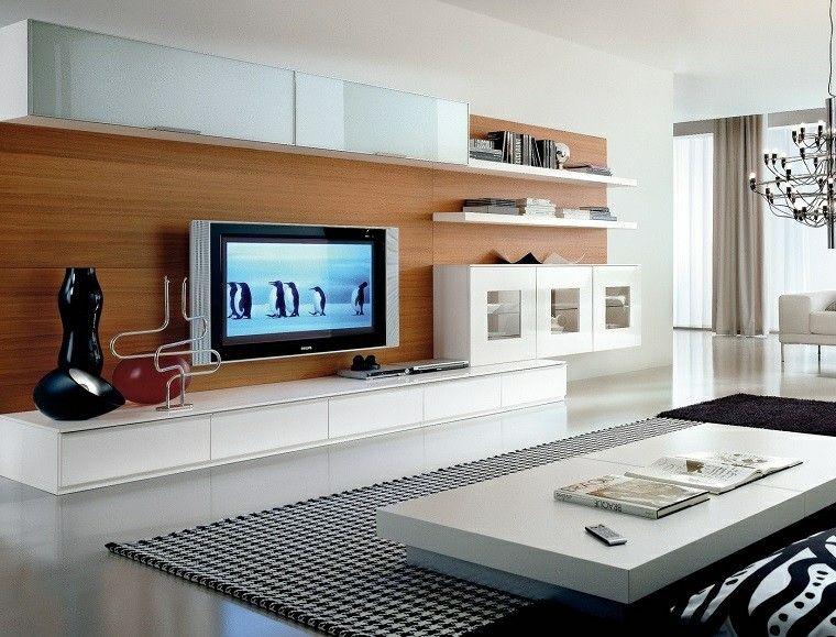blanco y negro combinacion salon moderno lampara preciosa ideas
