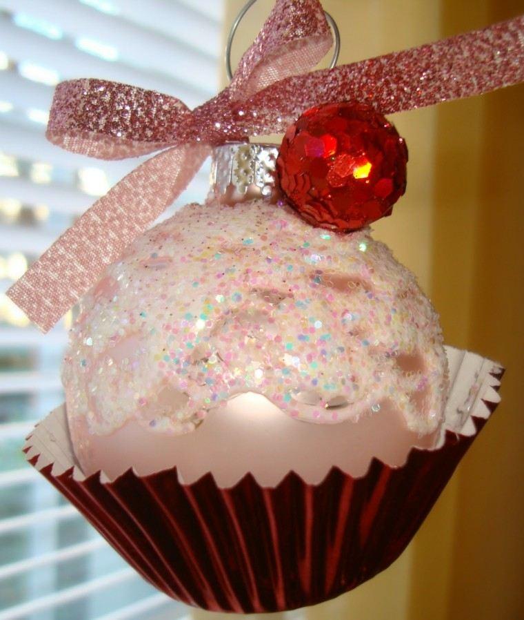 bola adorno navidad pastel dos