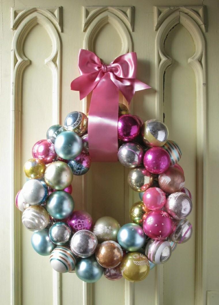 bolas navidad colores rosa azul