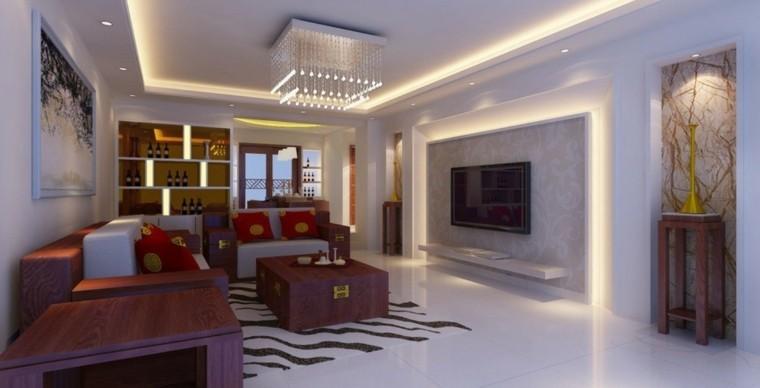 Bombillas led 50 ideas para un ambiente diferente for Iluminacion led salon