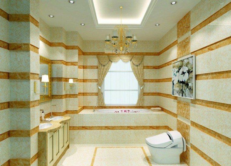 bombillas led baño detalles rayas