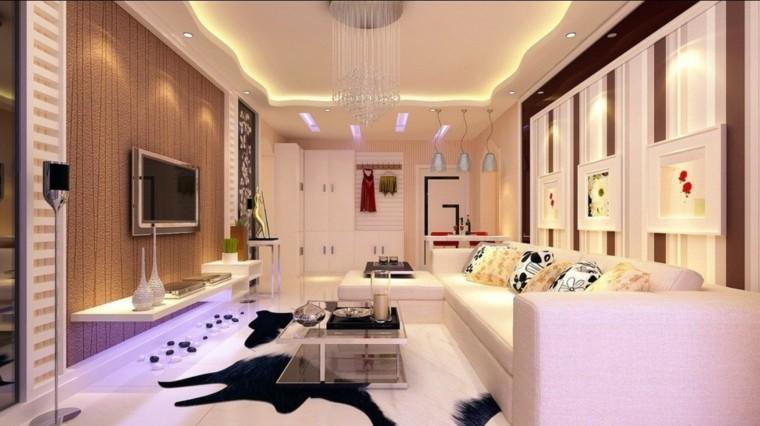 bonita casa led estantes pieles