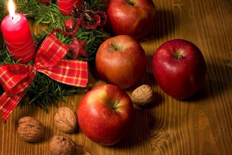 bonita decoracion manzanas rojas