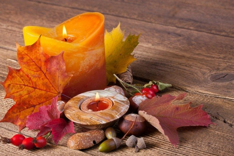 bonita decoracion vela naranja