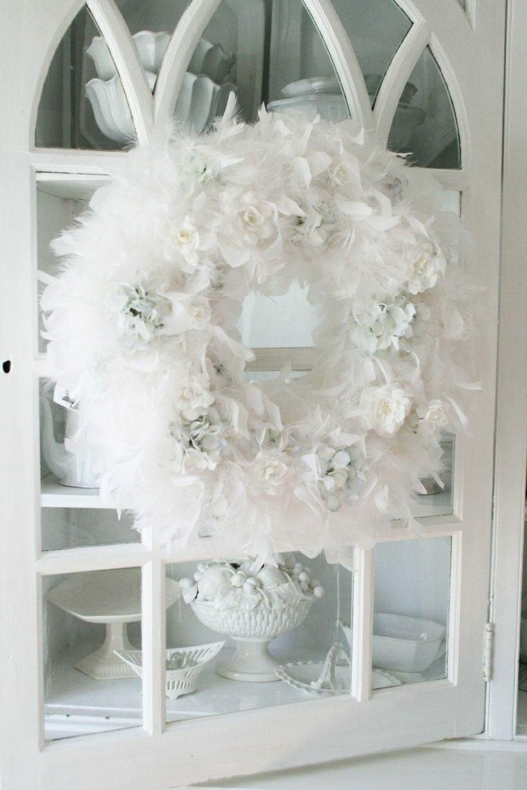 bonita guirnalda plumas blancas