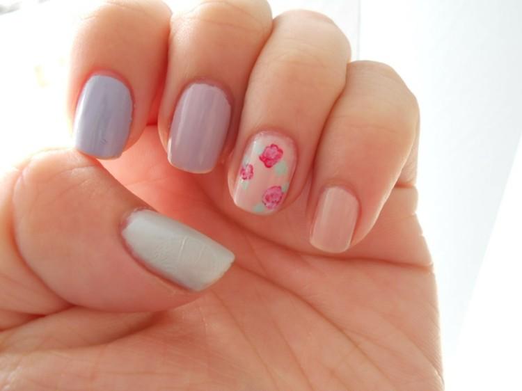 bonitas uñas colores claros