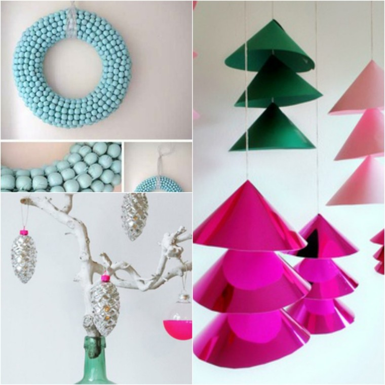 bonitas manualidades para arboles navidad