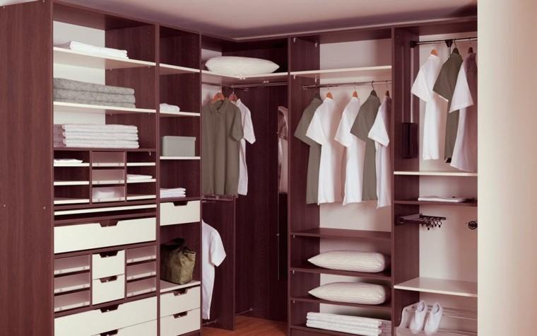bonito diseño vestidor madera