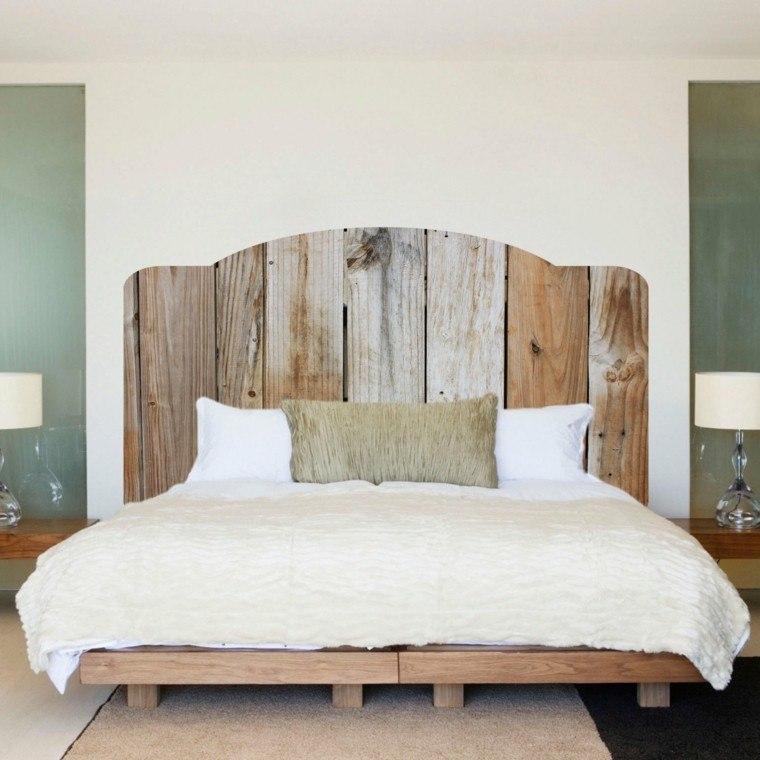 bonito diseño cama cabecero madera