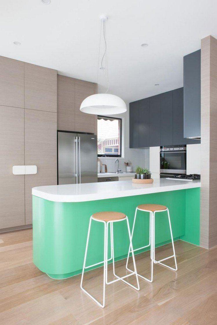 bonito diseño colores cocina moderna