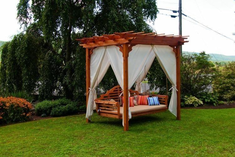 nice design swing pergola curtains