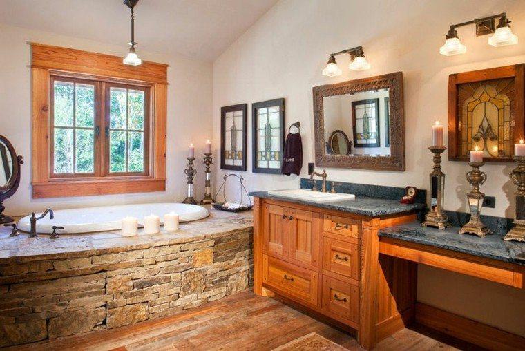 Cuartos De Baño Estilo Rustico:bonito diseño de cuarto de baño rústico