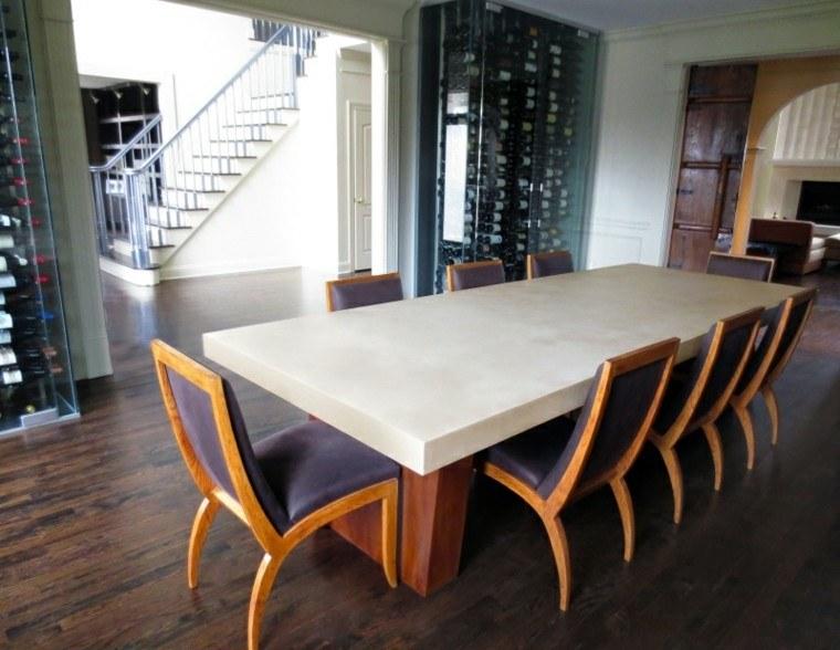 bonito diseño mesa comedor cemento