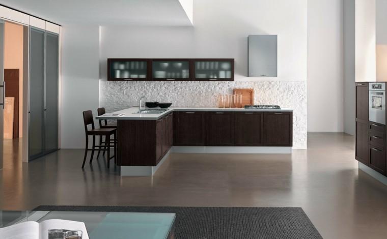 bonito diseño salon isla cocina