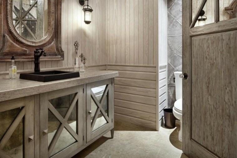 bonito diseño baño estilo retro