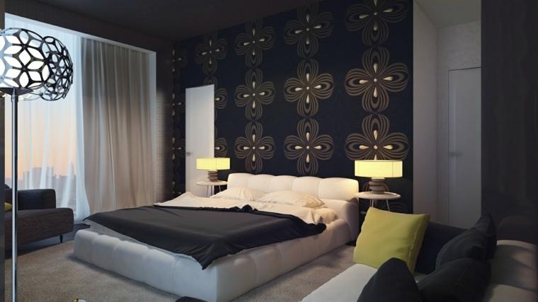 bonito diseño papel pared dormitorio