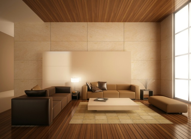 Falso techo de dise o moderno cincuenta modelos for Plafones de madera pared