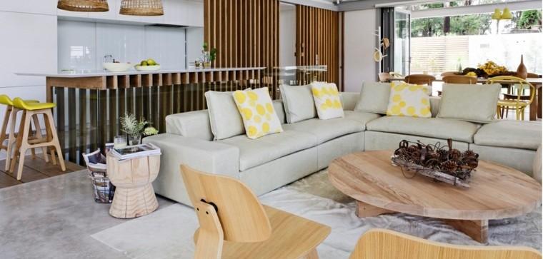 piso de concreto sala de estar Cemento Como Tendencia De Decoracin Para Interiores