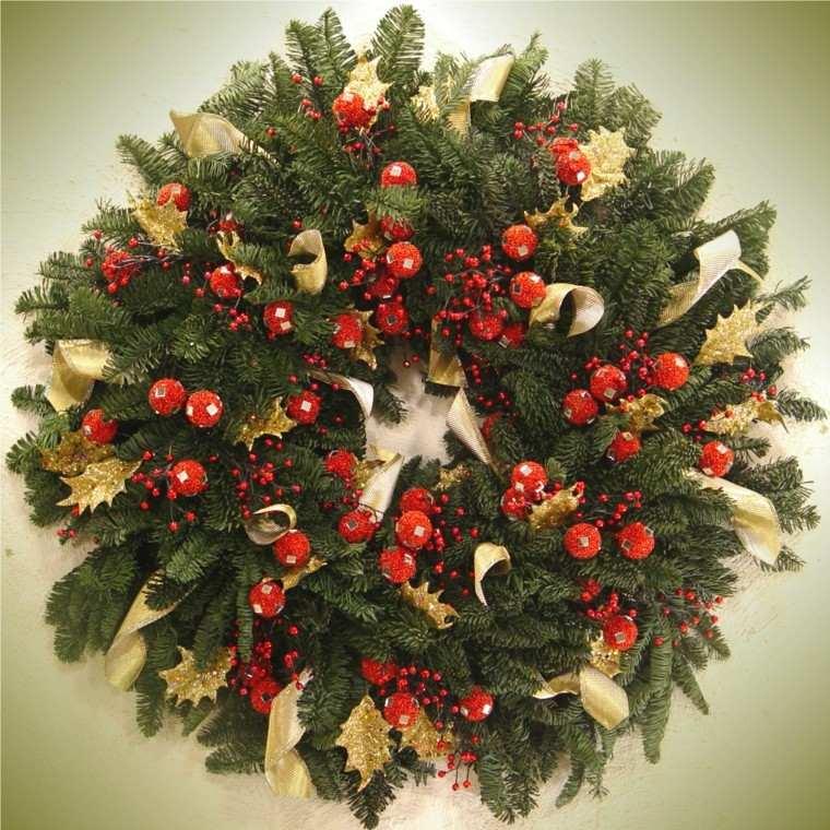 bonitos diseños coronas navideñas