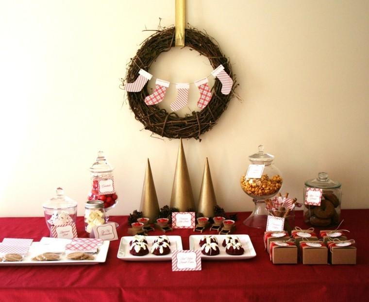 bonitos adornos navidad guirnalda ramitas