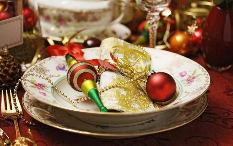 bonitos diseños adornos navidad plato