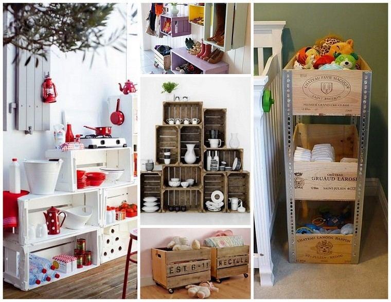 Muebles reciclados hechos con cajas de frutas - Muebles originales reciclados ...
