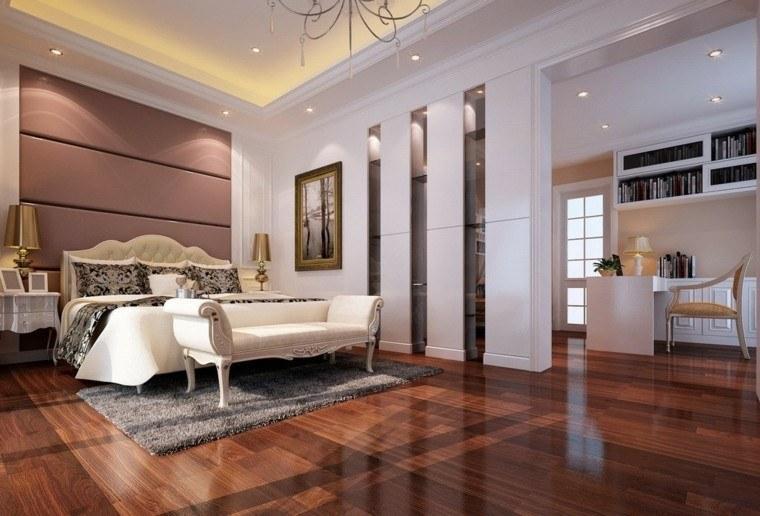 brillo suelo habitacion madera led