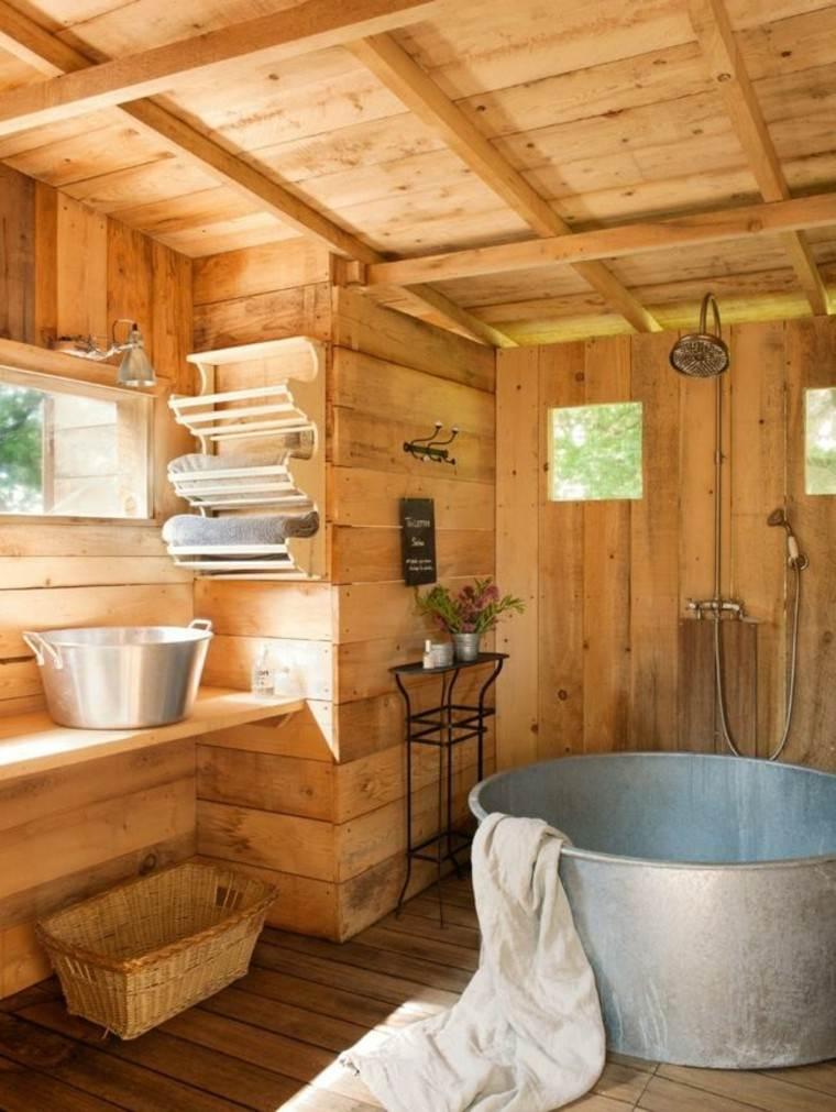 Baños rusticos diseño y ambientes de puro confort.
