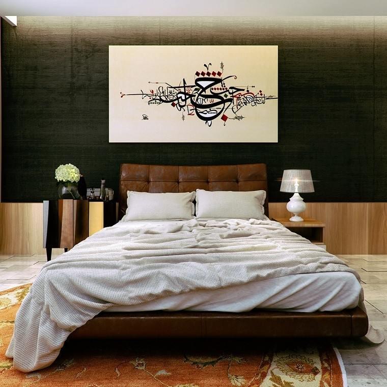 Cabecero Cama Dormitorio Moderno Cuadro Pared Original Ideas
